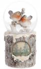"""Декоративний водяний шар """"Снігурі"""" 15см з LED-підсвіткою"""