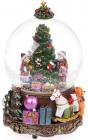 """Декоративний водяний шар """"Різдвяна ялина"""" 16.5см, музичний"""