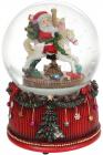 """Декоративна водяна куля """"Санта на каруселі"""" 14.8см, музична"""