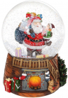 "Декоративна водяна куля ""Санта з Малюком"" 14.5см, музична"