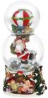 """Декоративный водяной шар """"Санта на воздушном шаре"""" 21.5см, музыкальный"""