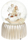 """Декоративна водяна куля""""Санта на Конячці-гойдалці"""" 14.5см"""