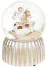 """Декоративный водяной шар """"Санта на Лошадке-качалке"""" 14.5см"""