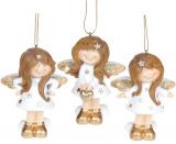 "Набор 3 подвесные фигурки ""Ангелочек"" White&Gold 7.5х5.5х10см"