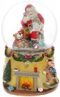 """Декоративна водяна куля """"Санта з Ведмежатами"""" 15.5см, музична"""