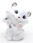 """Фарфорова статуетка """"Кішка"""" 7.2см, фарфор з декоративними стразами"""