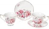 """Чайний порцеляновий сервіз """"Версаль"""" 6 чашок 250мл і 6 блюдець Ø15см"""