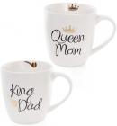 """Кружка фарфоровая """"Моя королевская семья"""" 520мл (""""King Dad"""" & """"Queen Mom"""")"""