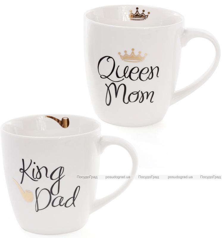"""Кружка порцелянова """"Моя королівська сім'я"""" 520мл ( """"King Dad""""&""""Queen Mom"""")"""