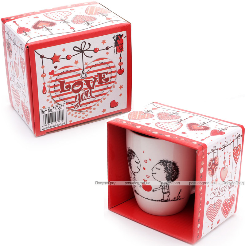 """Кружка фарфоровая My Favorite """"Любовь"""" 350мл в подарочной коробке"""