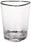Набор 4 стакана Monaco Ice 350мл, стекло с серебряным кантом