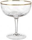 Набір 4 келиха Avril для коктейлів 300мл, скло із золотим декором