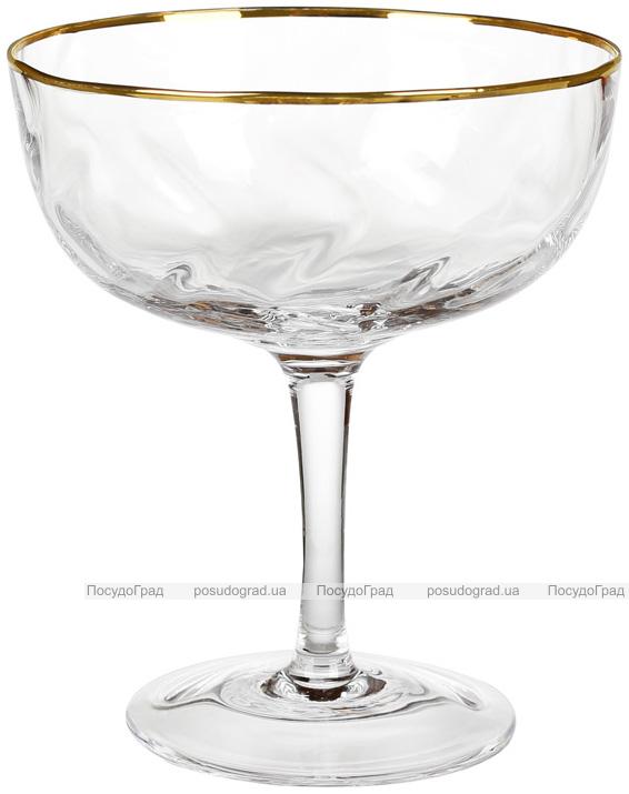 Набор 4 бокала Avril для коктейлей 300мл, стекло с золотым декором
