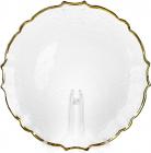 Набір 4 сервірувальних блюда Adele Ø33см, скло із золотою облямівкою, підставна тарілка