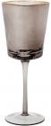 Набір 4 фужера Smoke Ice келихи для вина 400мл, скло з золотим кантом