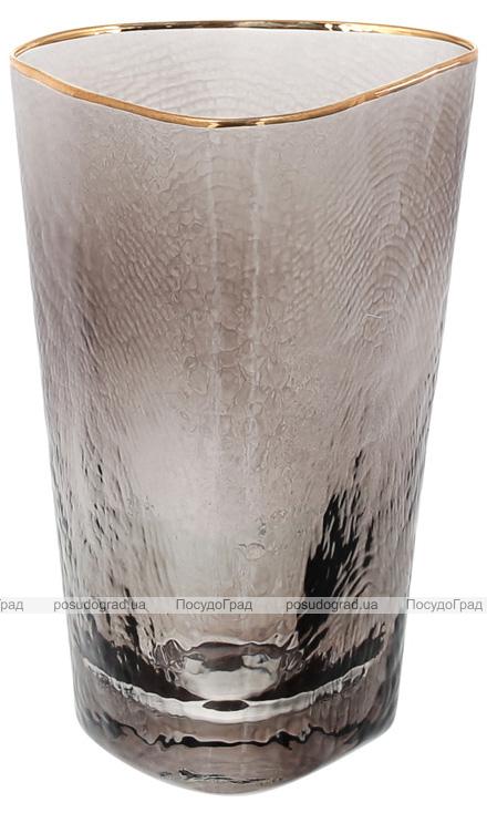 Набор 4 стакана Smoke Ice 380мл, стекло с золотым кантом