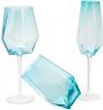 Набор 4 стакана Monaco 700мл, стекло голубой лед