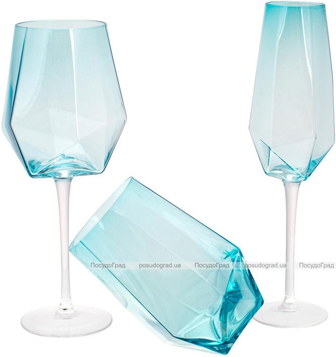 Набір 4 склянки Monaco 700мл, скло блакитний лід