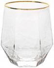 Набір 4 склянки Monaco Ice 450мл, скло з золотим кантом