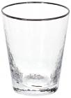Набір 4 склянки Donna Ice 380мл, скло з срібним кантом