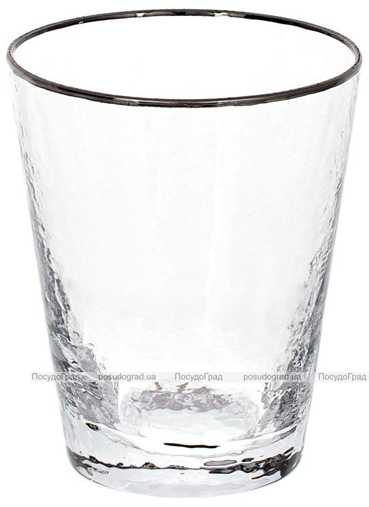 Набор 4 стакана Donna Ice 380мл, стекло с серебряным кантом