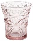 "Набір 6 склянок ""Бант"" 260мл, рожеве скло"