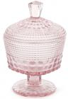 Сахарница Siena Toscana 250мл на ножке, розовое стекло