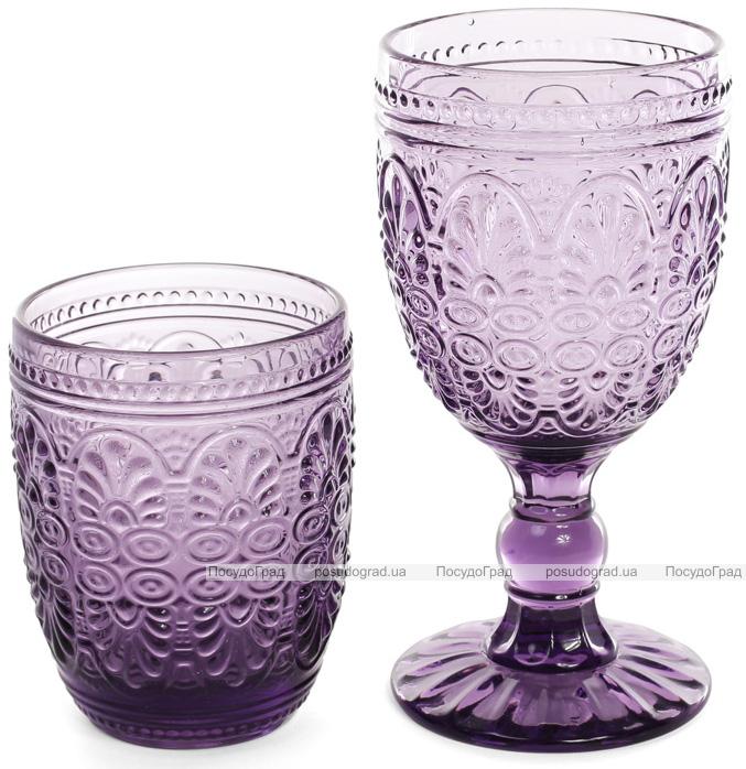 Набор 6 винных бокалов Siena Toscana 300мл, пурпурное стекло
