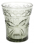 "Набір 6 склянок ""Бант"" 260мл, димчасте скло"