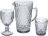 Набор 6 стаканов Siena Toscana 350мл, серо-голубое стекло