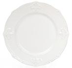 Набір 6 десертних тарілок Leeds Королівська Лілія Ø21.5см, білі