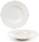 Набір 6 супових тарілок Leeds Королівська Лілія Ø22.8см, білі