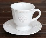 """Чайно-кавовий набір Shabby Chic """"Королівська лілія"""" 2 чашки 260мл і 2 блюдця"""