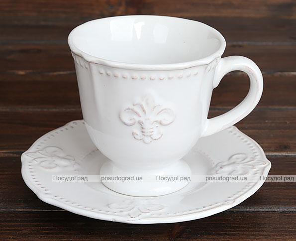 """Чайно-кофейный набор Shabby Chic """"Королевская лилия"""" 2 чашки 260мл и 2 блюдца"""
