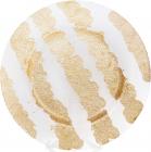 Блюдо сервировочное Golden Shine декоративное Ø33см, подставная тарелка, стекло