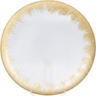 Блюдо сервировочное Golden Fireworkдекоративное Ø33см, подставная тарелка, стекло