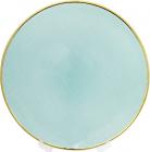 Блюдо сервіровочне White Shine декоративне Ø33см, підставна тарілка, скло