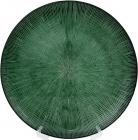 Блюдо сервіровочне Emerald Web декоративне Ø33см, підставна тарілка, скло
