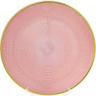 Блюдо сервировочное Pink Web декоративное Ø33см, подставная тарелка, стекло