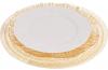 Блюдо сервіровочне Golden Foam декоративне Ø33см, підставна тарілка, скло