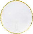 Блюдо сервировочное Gold Bezel декоративное Ø33см, подставная тарелка, стекло