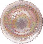 Блюдо сервіровочне Strawberry Rainbow Flower декоративне Ø33см, підставна тарілка, скло