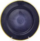 Блюдо сервировочное Cobalt Web декоративное Ø33см, подставная тарелка, стекло