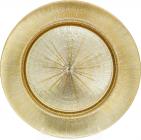 Блюдо сервіровочне Mirjana Golden декоративне Ø33см, підставна тарілка, скло
