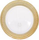 Блюдо сервировочное Golden Firework декоративное Ø33см, стеклянная подставная тарелка