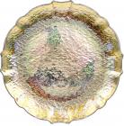 Блюдо сервировочное Gold Paper Nacre декоративное Ø33см, подставная тарелка, стекло