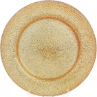 Блюдо сервіровочне Golden Explosion декоративне Ø33см, підставна тарілка, скло