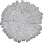 Блюдо сервировочное 35см, подставная тарелка, стекло, серебро