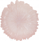 Блюдо сервировочное 35см, подставная тарелка, стекло, розовый