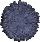 Блюдо сервірувальне 35см, підставна тарілка, скло, синій